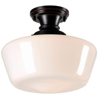 Cambridge 1 Light 12 inch Oil Rubbed Bronze Semi-Flush Ceiling Light