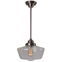 Cambridge 1 Light 12 inch Aged Metal Pendant Ceiling Light