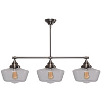 Kenroy Lighting Cambridge 3 Light Island Light in Aged Metal 93663AGM