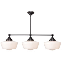 Cambridge 3 Light 12 inch Oil Rubbed Bronze Island Light Ceiling Light