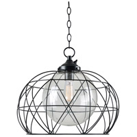 Kenroy Lighting 93665ORB Cavea 1 Light 20 inch Oil Rubbed Bronze Outdoor Pendant
