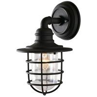 Kenroy Lighting 93666BL Eli 1 Light 14 inch Black Outdoor Wall Lantern Small