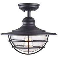 Kenroy Lighting 93669BL Eli 1 Light 17 inch Black Semi Flush Mount Ceiling Light