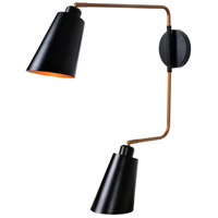 Kenroy Lighting 93672BL Alvar 2 Light 20 inch Black Wall Sconce Wall Light
