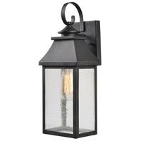 Kenroy Lighting 93680BL Nelson 1 Light 13 inch Black Outdoor Wall Lantern Large
