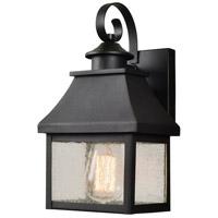 Kenroy Lighting 93682BL Nelson 1 Light 8 inch Black Outdoor Wall Lantern Small