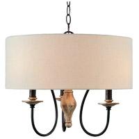 Kenroy Lighting 93843WW Lisbeth 3 Light 20 inch Weathered Wood Chandelier Ceiling Light