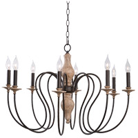 Kenroy Lighting 93848WW Lisbeth 8 Light 33 inch Weathered Wood Chandelier Ceiling Light
