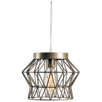 Kenroy Lighting 93853SIL Thaxton 1 Light 11 inch Silver Swag Pendant Ceiling Light