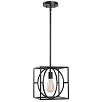 Kenroy Lighting 93885BL Adele 1 Light 12 inch Black Mini Pendant Ceiling Light