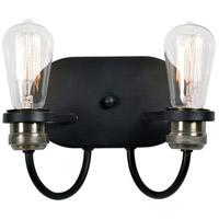 Kenroy Lighting 93890BL Damien 2 Light 11 inch Black Wall Sconce Wall Light