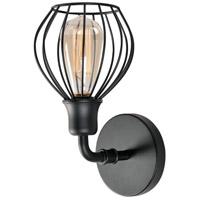 Kenroy Lighting 93970BL Cagney 1 Light 11 inch Black Wall Sconce Wall Light