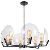 Kenroy Lighting 94016BL Finlay 6 Light 32 inch Black Chandelier Ceiling Light