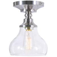 Kenroy Lighting 94057BS Wren 1 Light 11 inch Brushed Steel Semi Flush Mount Ceiling Light