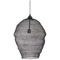 Kenroy Lighting 94074BL Hivly 1 Light 21 inch Black Pendant Ceiling Light