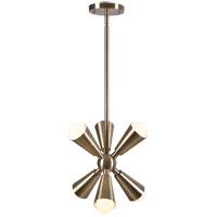 Kenroy Lighting 94126AB Tempest 6 Light 15 inch Antique Brass Pendant Ceiling Light