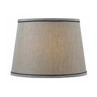 Signature Silver with Dark Trim 15 inch Drum Shade