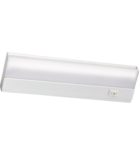 Kichler Lighting Direct-Wire Fluorescent 8W Cabinet Strip/Bar Light in White 10041WH