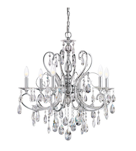 Kichler Lighting Marcalina 6 Light Mini Chandelier in Chrome 1012CH photo