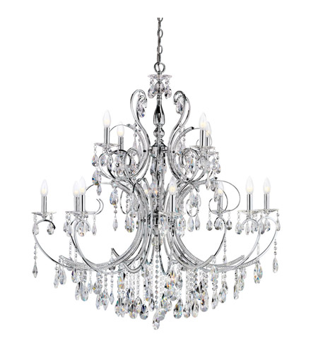 Kichler Lighting Marcalina 12 Light Chandelier in Chrome 1014CH photo