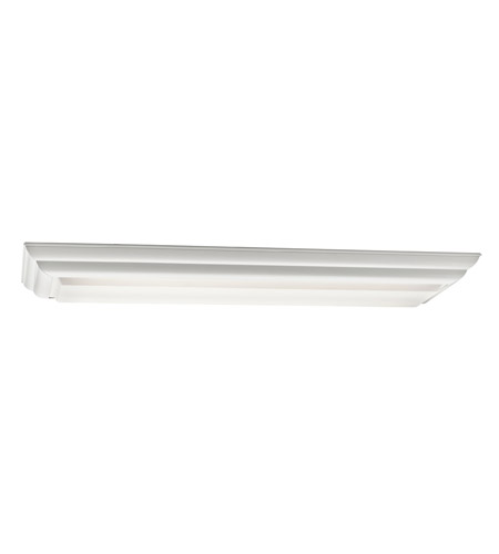 Kichler Lighting Signature 2 Light Fluorescent Flush Mount in White 10308WH photo