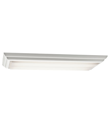 Kichler Lighting Signature 4 Light Fluorescent Flush Mount in White 10314WH photo