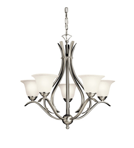 Kichler 10320NI Dover 5 Light 24 inch Brushed Nickel Fluorescent Chandelier Ceiling Light photo