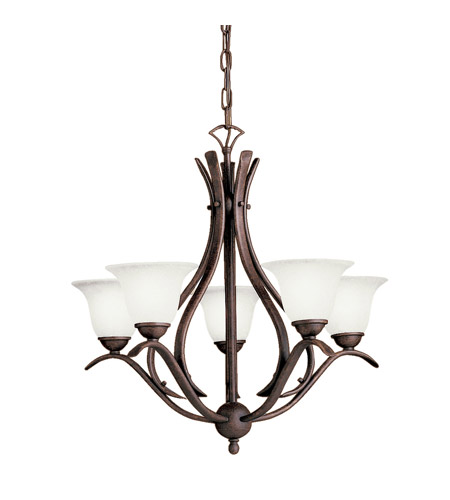 Kichler Lighting Dover 5 Light Fluorescent Chandelier in Tannery Bronze 10320TZ