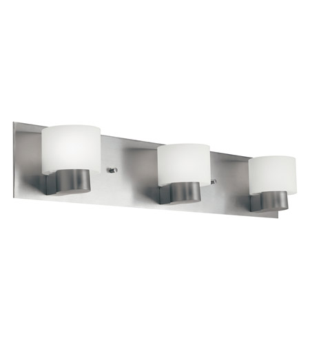 Kichler Lighting Adao 3 Light Fluorescent Bath Vanity in Brushed Nickel 10403NI
