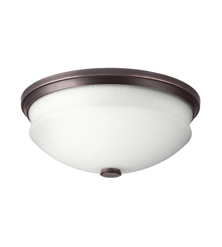 Kichler Lighting Pierson 2 Light Fluorescent Flush Mount in Royal Bronze 10408RBZ photo