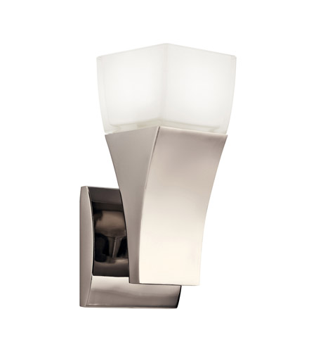 Kichler Lighting Osaka 1 Light Fluorescent Sconce in Polished Nickel 10411PN
