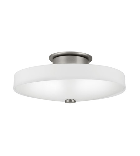 Kichler Lighting Adao 1 Light Fluorescent Flush Mount in Brushed Nickel 10412NI