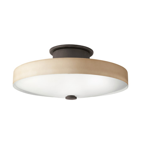 Kichler Lighting Adao 1 Light Fluorescent Flush Mount in Olde Bronze 10412OZ