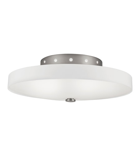 Kichler Lighting Adao 2 Light Fluorescent Flush Mount in Brushed Nickel 10413NI photo