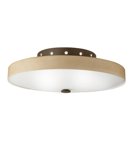 Kichler Lighting Adao 2 Light Fluorescent Flush Mount in Olde Bronze 10413OZ