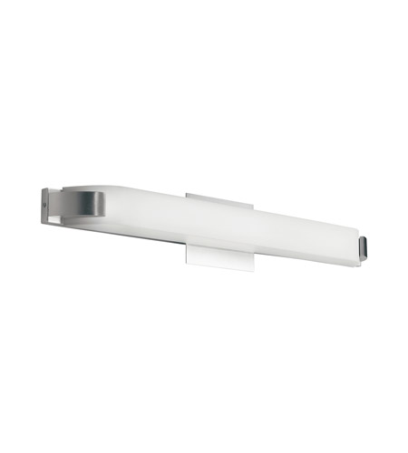 Kichler 10414NI Nobu 1 Light 27 inch Brushed Nickel Fluorescent Bath Vanity Wall Light photo