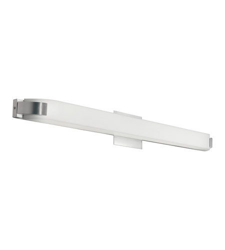 Kichler Lighting Nobu 1 Light Fluorescent Bath Vanity in Brushed Nickel 10415NI