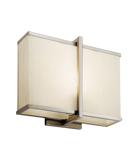 Kichler Lighting Rigel 1 Light Fluorescent Sconce in Satin Nickel 10421SN photo