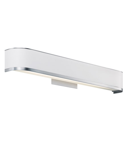 Kichler Lighting Pira 1 Light Fluorescent Bath Vanity in Brushed Aluminum 10423BA photo