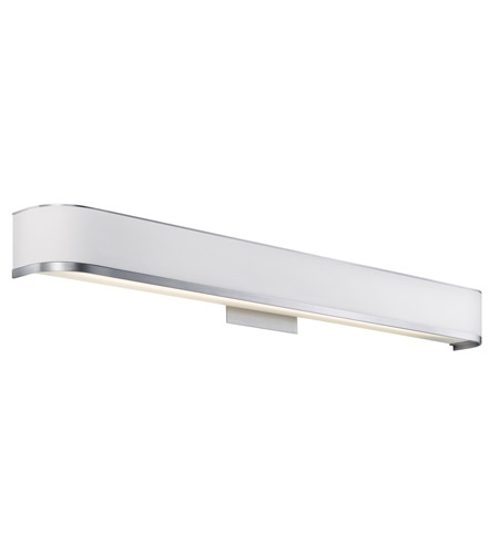 Kichler 10424BA Pira 1 Light 37 inch Brushed Aluminum Fluorescent Bath Vanity Wall Light photo