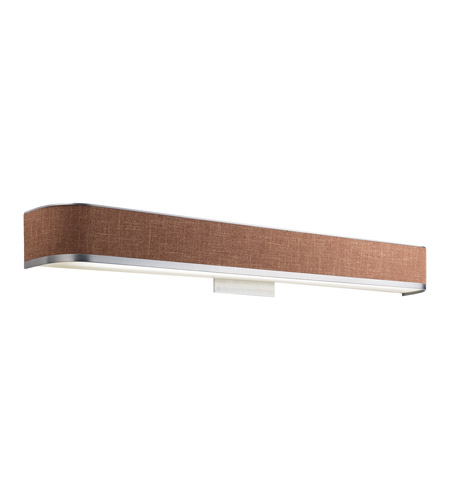 Kichler 10424BAW Pira 1 Light 37 inch Brushed Aluminum and Wood Fluorescent Bath Vanity Wall Light photo