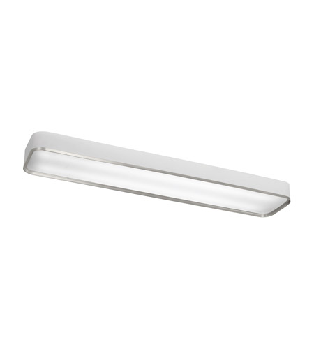 Kichler 10425BA Pira 2 Light 10 inch Brushed Aluminum Fluorescent Flush Mount Ceiling Light photo