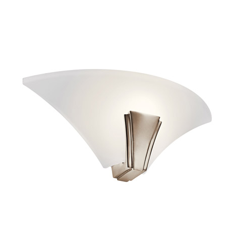 Kichler Lighting Oviedo 1 Light Fluorescent Sconce in Polished Nickel 10435PN