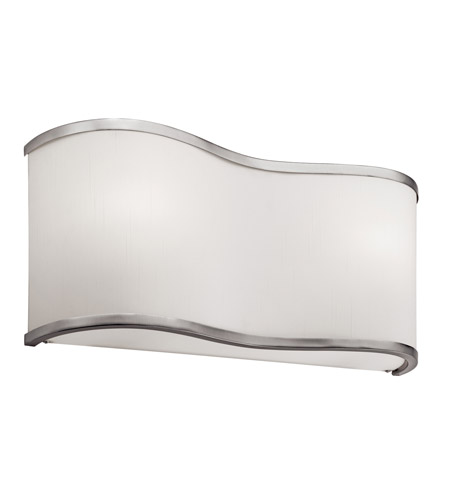 Kichler Lighting Kivik 2 Light Fluorescent Sconce in Brushed Nickel 10437NI