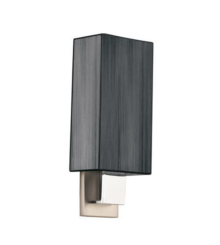 Kichler Lighting Santiago 1 Light Fluorescent Sconce in Brushed Nickel & Chrome 10438NCHB