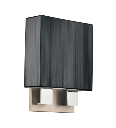 Kichler Lighting Santiago 2 Light Fluorescent Sconce in Brushed Nickel & Chrome 10439NCHB