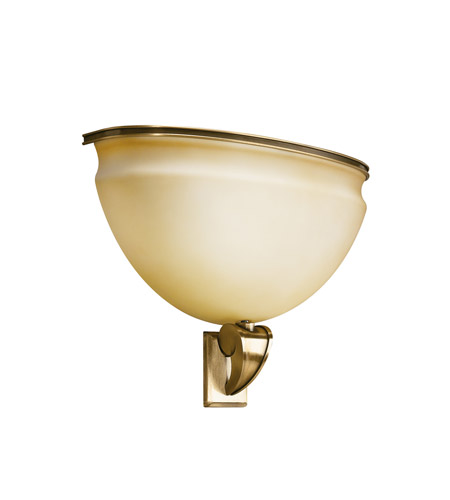 Kichler Lighting Pierson 2 Light Fluorescent Sconce in Antique Brass 10442AB