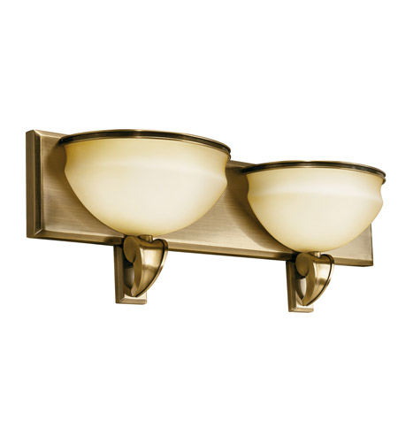 Kichler Lighting Pierson 2 Light Fluorescent Bath Vanity in Antique Brass 10443AB