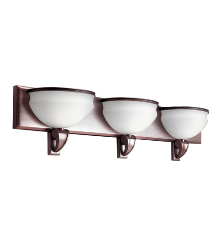 Kichler Lighting Pierson 3 Light Fluorescent Bath Vanity in Royal Bronze 10444RBZ