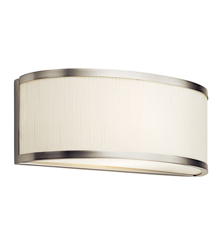 Kichler Lighting Larsen 1 Light Fluorescent Sconce in Satin Nickel 10446SN